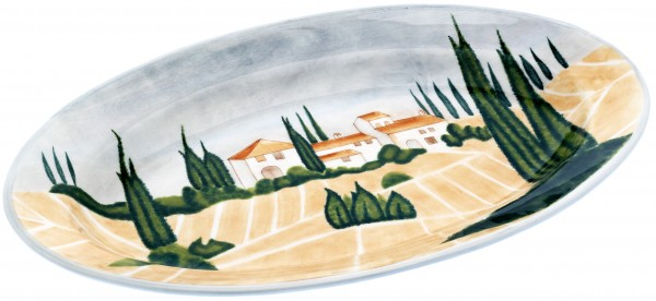 "Magu Keramik Platte oval 46cm handbemalt ""SIENA"" - 125 235"