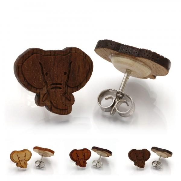 Elefant - Miriquidi Holz Ohrstecker