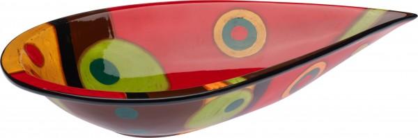 "Magu Keramik Schale oval 41cm handbemalt ""SAMBA"" - 190 135"