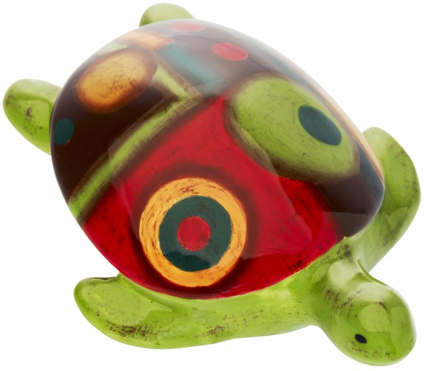 "Magu Keramik Schildkröte 11cm handbemalt ""SAMBA"" - 190 967"