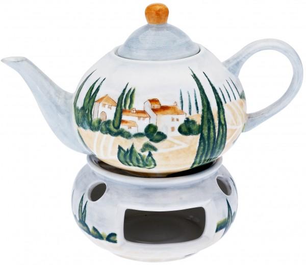 """Magu Keramik Teekanne 1,1 ltr. handbemalt """"SIENA"""" - 125 713"""