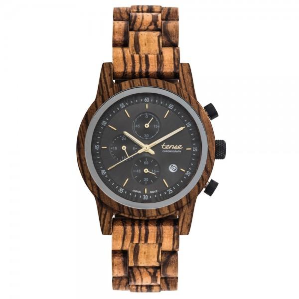 TENSE Cambridge Zebrano - Holz Chronograph