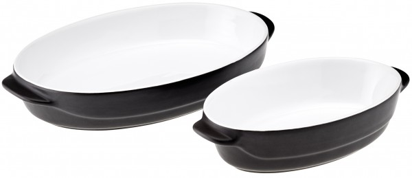 "Magu Keramik Auflaufform oval 23x13cm ""Schiefer"" - 103 532"