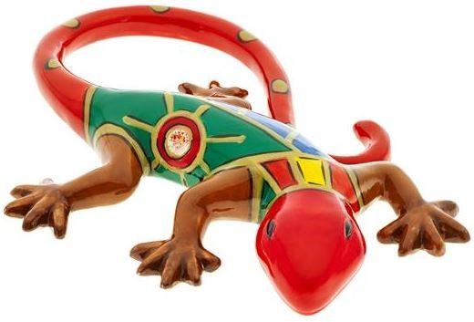 "Magu Keramik Gecko 15cm handbemalt ""FACE to FACE"" - 180 964"
