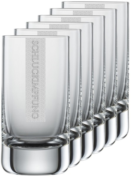 SCHLUCKIMPFUNG 6x Gläser mit Gravur | 5cl Schott Zwiesel Convention Nr. 35 Schnapsgläser