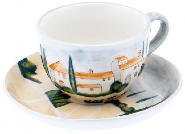 """Magu Keramik Teetasse mit Untere handbemalt """"SIENA"""" - 125 490"""