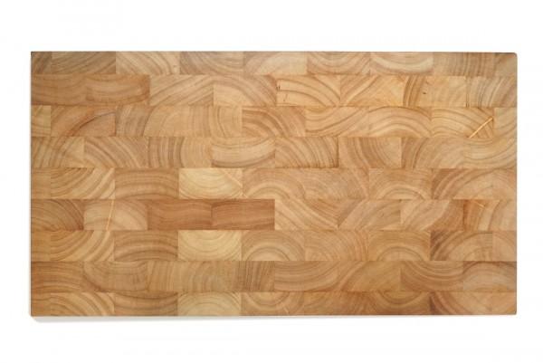 Schneidebrett Gummibaum Holz mit Gravur   54x29 cm Gummibaum   Continenta 4001