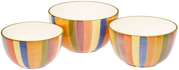 "Magu Keramik Schale rund 28cm handbem. ""KARNEVALE"" - 118 015"