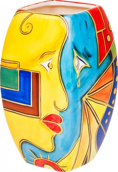 """Magu Keramik Vase 25cm handbemalt """"FACE to FACE"""" - 180 863"""