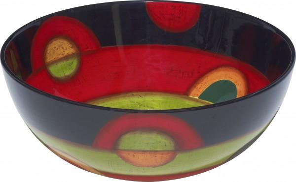 "Magu Keramik Schale rund 25cm handbemalt ""SAMBA"" - 190 117"