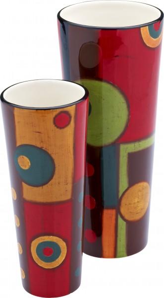 """Magu Keramik Vase 25cm handbemalt """"SAMBA"""" - 190 847"""