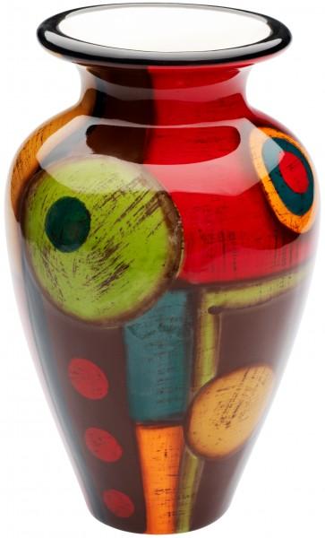 """Magu Keramik Vase 25cm handbemalt """"SAMBA"""" - 190 853"""