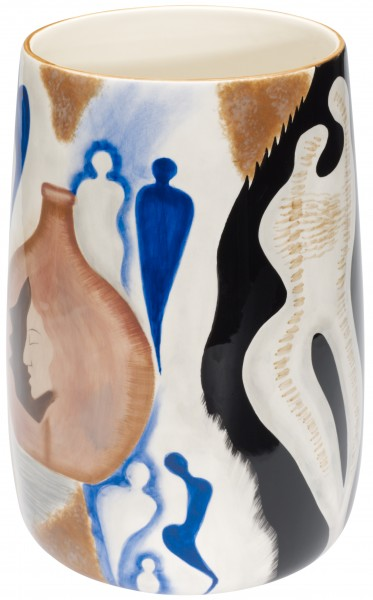 "Magu Keramik Vase 24cm handbemalt ""COMMUNICATION"" - 195 888"