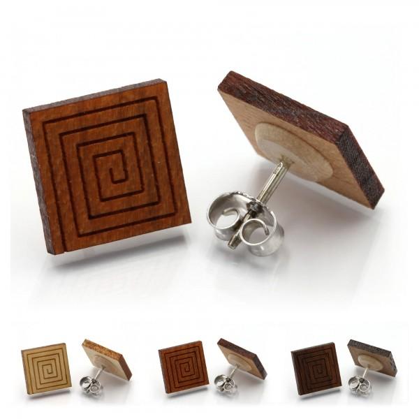 Spirale - Miriquidi Holz Ohrstecker